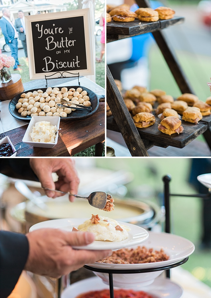 Edenton Courthouse Wedding - Southern Comfort Food - Wedding Catering - Biscuit Bar at a Wedding